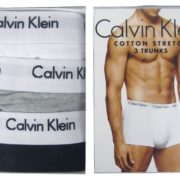 Pack of 3 Original Calvin Klein Boxer Underwear for Men