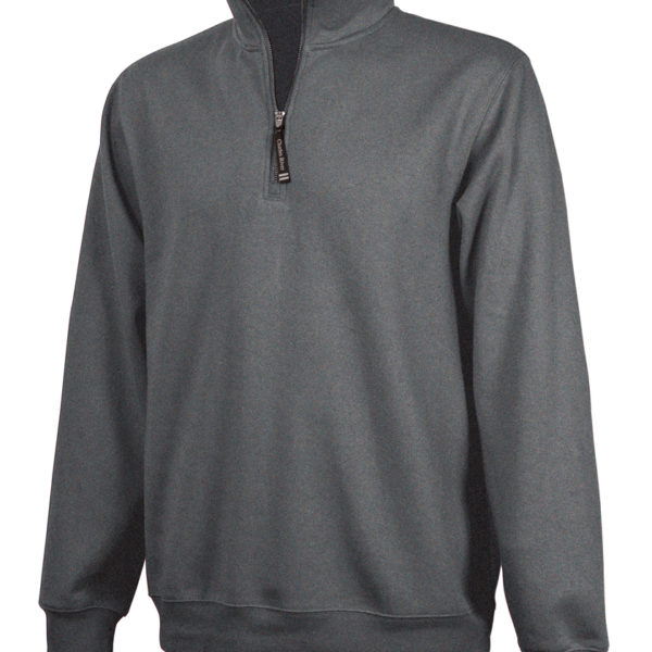 Charcoal Fleece Zipper Hoodie