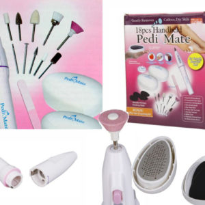 18 Pieces Handheld Pedi Mate