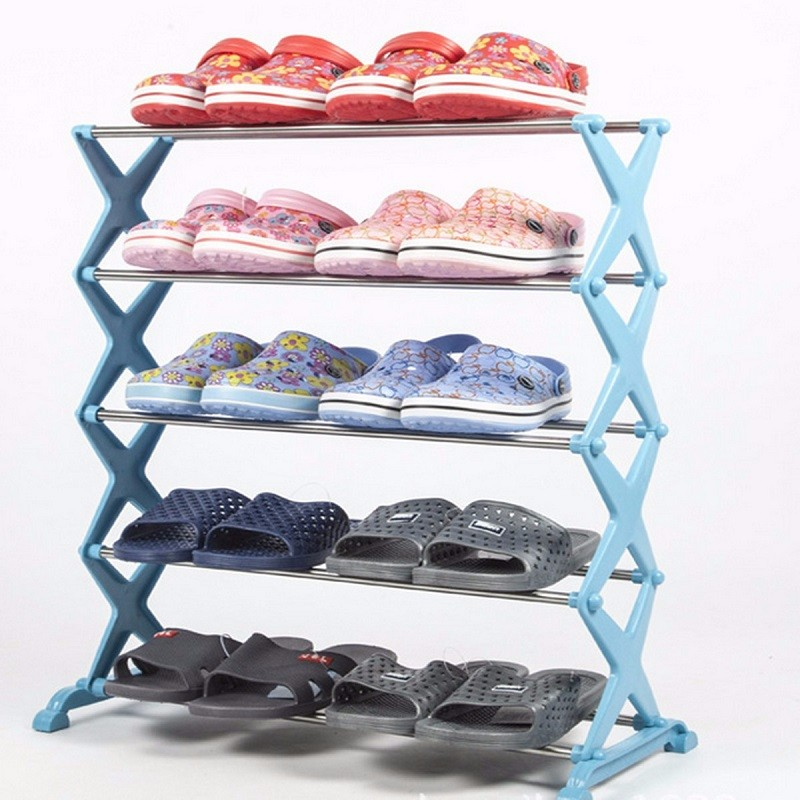 5 Tier 12 Pair Stackable Shoe Rack