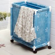 CLOTHES BASKET WITH WHEEL-3