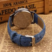 Denim Wrist Watch with Newspaper Designed Dial for Men And Women-1