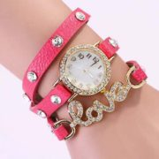 PACK OF 2 LOVE LEATHER BRACELET WATCHES-1