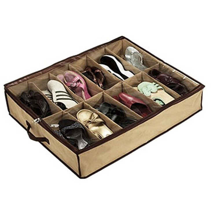 12 Pair Underbed Shoes Organizer