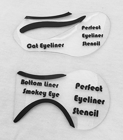 photograph relating to Printable Eyeliner Stencils known as Fastened of 6 Eyeliner Stencils and 1 Eye Shadow Stencil