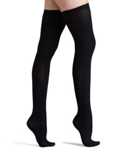 Black Opaque Stocking For Women