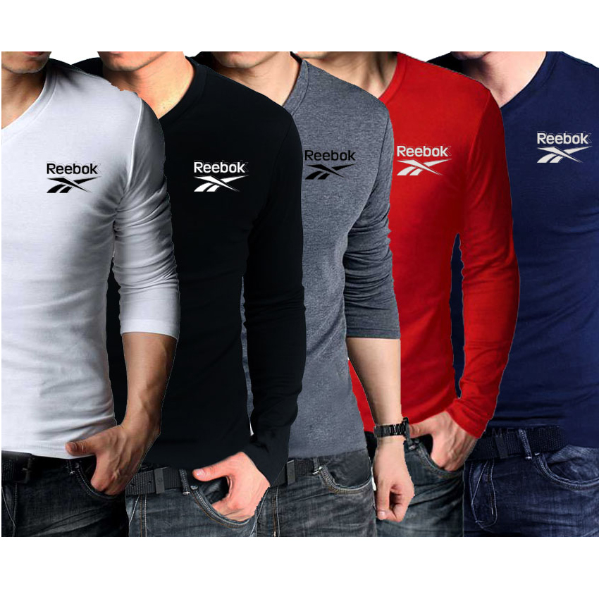 Pack Of 5 V-Neck Full Sleeves Reebok T-Shirts in Pakistan