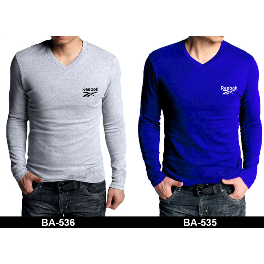 Buy Pack Of 5 V-Neck Full Sleeves Reebok T-Shirts in Pakistan ... 2f84dad925f6