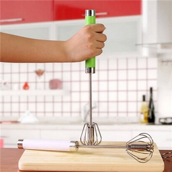 Pres2 Pc Steels & Spin Hand Whip Wire Whisk Mixer Egg- Beaters