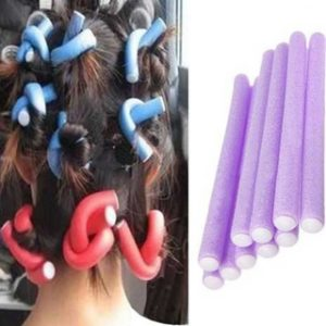 Pack Of 10 Bendy Foam Hair Rollers