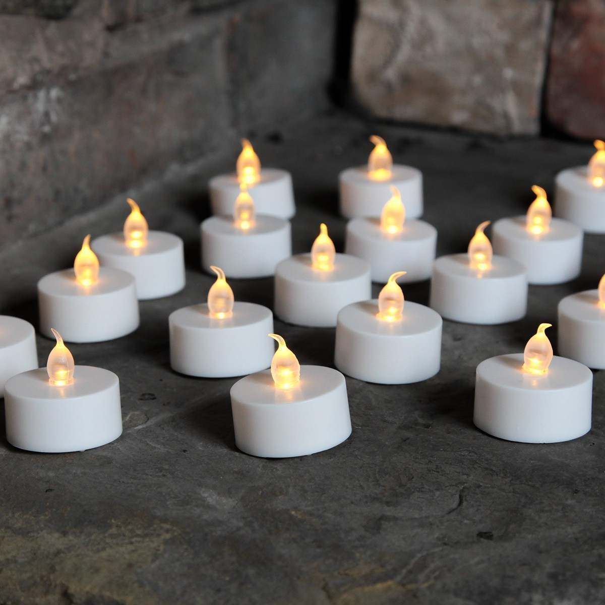 Pack of 10 LED Tealight Candles with 100pcs Cell's in Pakistan