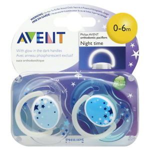 Philips Avent Night Time Pacifiers 0-6m in Pakistan