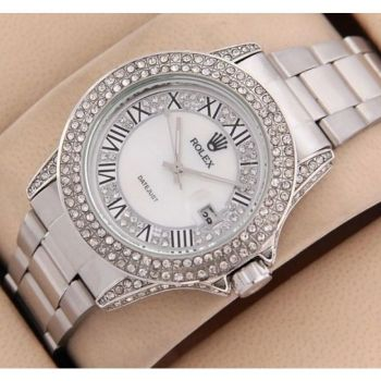 Rolex Stone Dytona Date Watch For Women in Pakistan