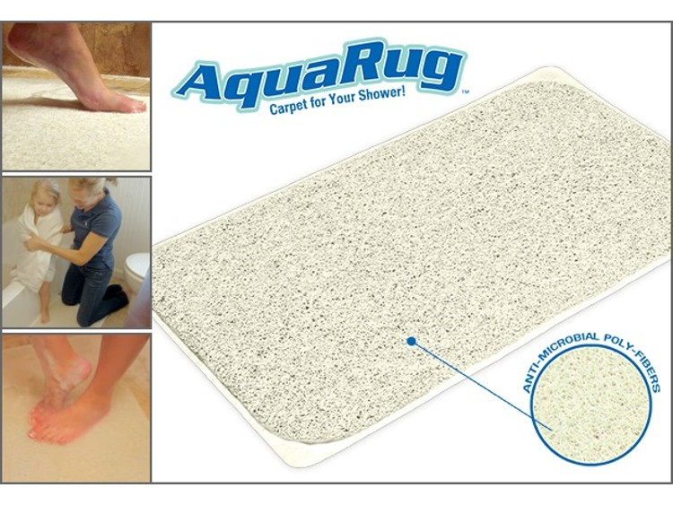 Aqua Rug Antimicrobial Slip Resistant Bathroom Rug