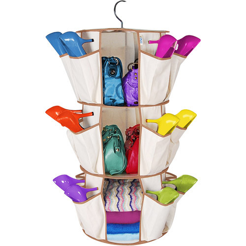 Smart Carousel Organizer for Footwear & Bags in Pakistan