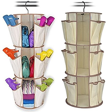 Smart Carousel Organizer for Footwear & Bags